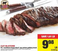 PC Certified Angus Beef Top Sirloin Grilling Steak
