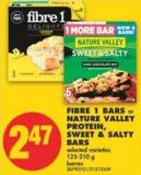Fibre 1 Bars or Nature Valley Protein - Sweet & Salty Bars - 125-210 g