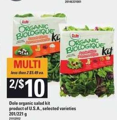 Dole Organic Salad Kit - 201/221 g