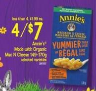 Annie's Made With Organic Mac N Cheese - 149-170g