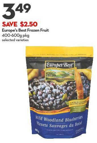 Europe's Best Frozen Fruit 400-600g Pkg