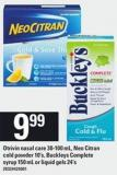 Otrivin Nasal Care 30-100 Ml - Neo Citran Cold Powder 10's - Buckleys Complete Syrup - 150 Ml Or Liquid Gels - 24's