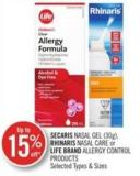 Secaris Nasal Gel (30g) - Rhinaris Nasal Care or Life Brand Allergy Control Products