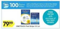 Onetouch Test Strips - 100 Air Miles Bonus Miles