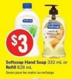 Softsoap Hand Soap 332 mL or Refill 828 mL