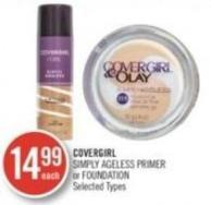 Covergirl Simply Ageless Primer or Foundation