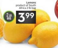 Lemons Product of South Africa 2 Lb Bag