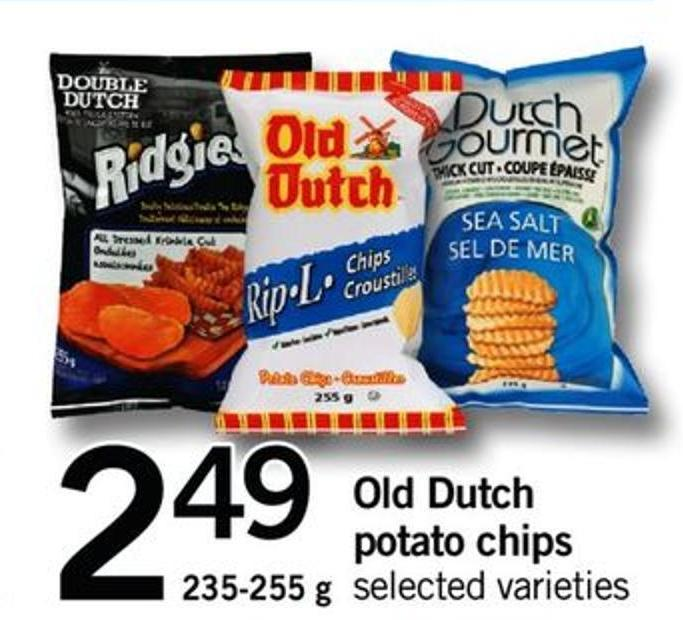 Old Dutch Potato Chips - 235/255 G