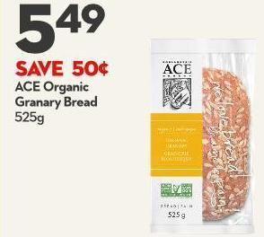 Ace Organic  Granary Bread  525g