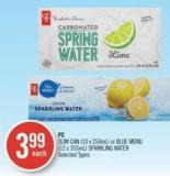 PC Slim Can (10 X 250ml) or Blue Menu (12 X 355ml) Sparkling Water