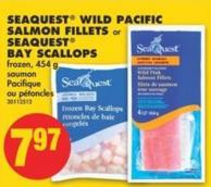 Seaquest Wild Pacific Salmon Fillets or Seaquest Bay Scallops - 454 g