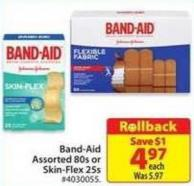 Band-aid Assorted 80s or Skin-flex 25s