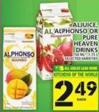Aljuice - Alphonso Or Pure Heaven Drinks