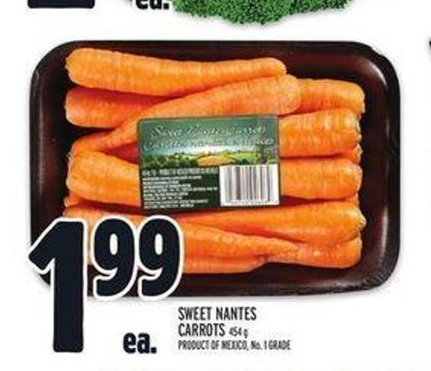 Sweet Nantes Carrots
