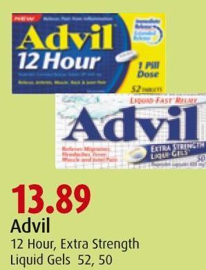 Advil 12 Hour - Extra Strength Liquid Gels 52 - 50