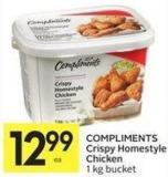 Compliments Crispy Homestyle Chicken 1 Kg Bucket