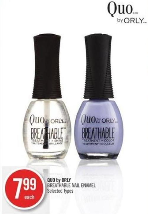 Quo By Orly Breathable Nail Enamel
