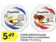 Compliments Double Crème Brie or Camembert Cheese