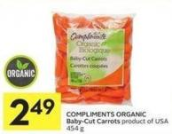 Compliments Organic Baby-cut Carrots