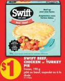 Swift Beef - Chicken or Turkey Pie