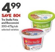 Tre Stelle Feta  and Bocconcini 200-475g Tub