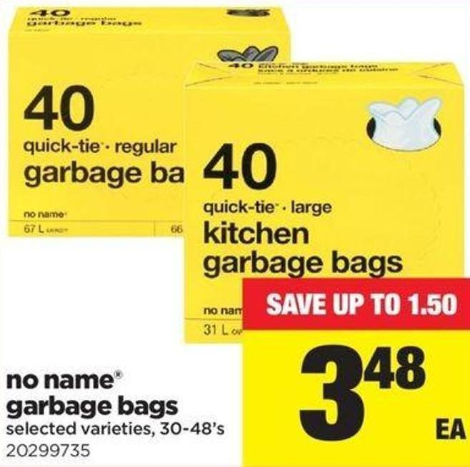 No Name Garbage Bags - 30-48's