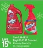Resolve Selected Cleaning Products