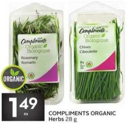 Compliments Organic Herbs 28 g