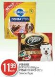 Pedigree Dentastix (608g) or Cesar Dog Food (12's)