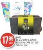 Dove Men or Women 4-piece Essential Care Gift Set