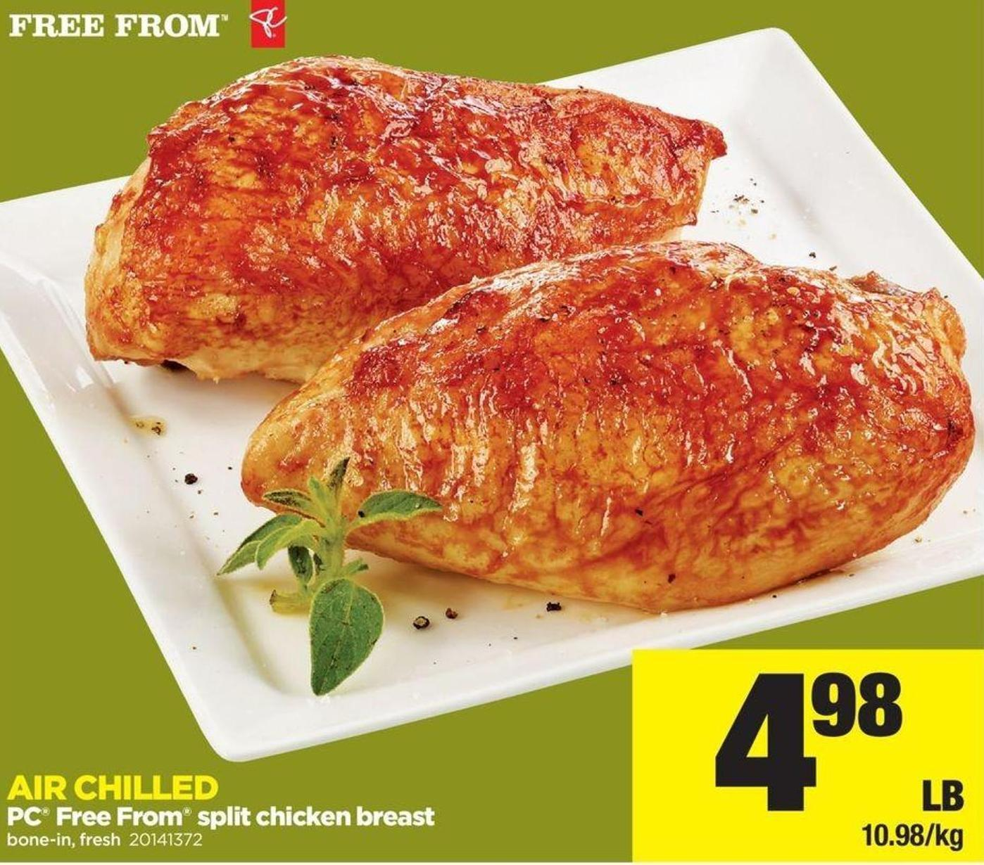 PC Free From Split Chicken Breast
