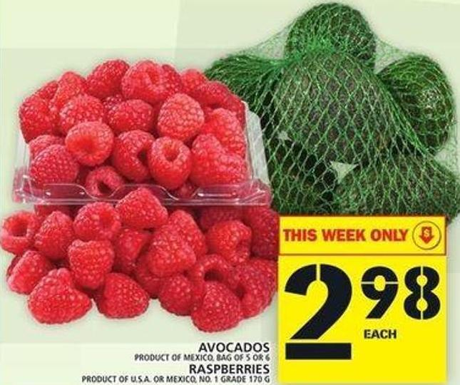 Avocados Or Raspberries