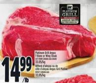 Platinum Grill Angus T-bone Or Wing Steak