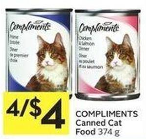 Compliments Canned Cat Food 374 g