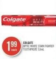 Colgate Optic White Stain Fighter Toothpaste 53ml