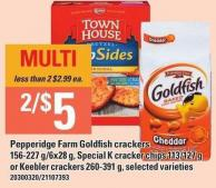 Pepperidge Farm Goldfish Crackers 156-227 G/6x28 G - Special K Cracker Chips 113/127 G Or Keebler Crackers 260-391 G