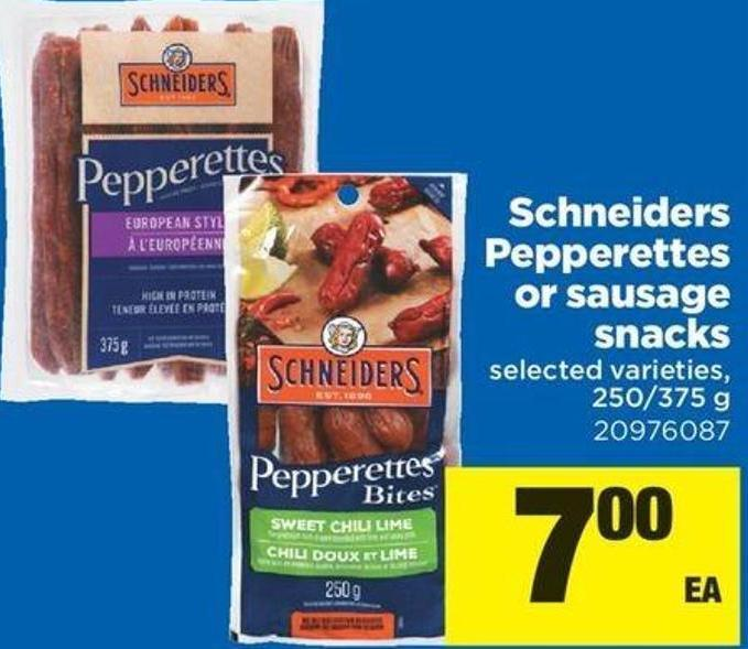 Schneiders Pepperettes Or Sausage Snacks - 250/375 G