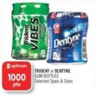 Trident or Dentyne GUM Bottles