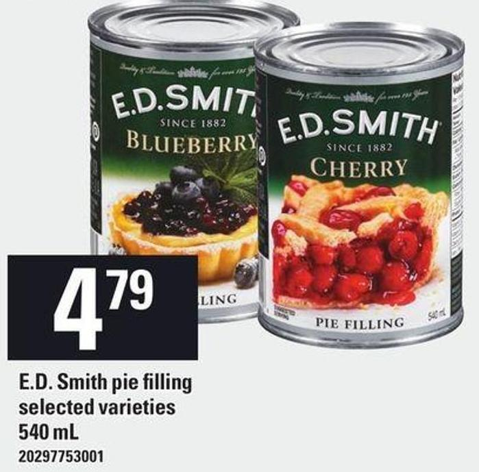 E.d. Smith Pie Filling - 540 mL