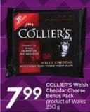 Collier's Welsh Cheddar Cheese Bonus Pack