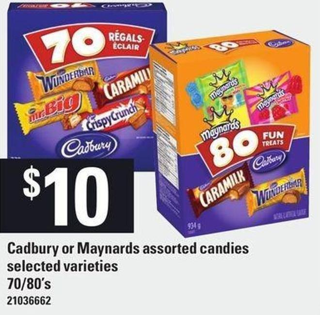 Cadbury Or Maynards Assorted Candies - 70/80's