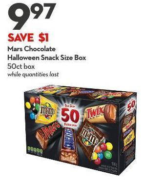 Mars Chocolate Halloween Snack Size Box 50ct Box While Quantities Last