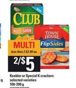 Keebler Or Special K Crackers - 100-390 g