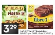 Nature Valley Protein Bars 148-210 g or Fibre 1 Bars 125-200 g