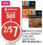 Kind Healthy Grains (175g) or Breakfast (200g) Bars