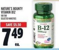 Nature's Bounty Vitamin B12 100 Tab