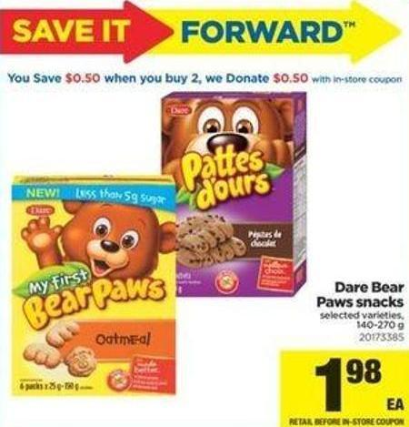 Dare Bear Paws Snacks - 140-270 G