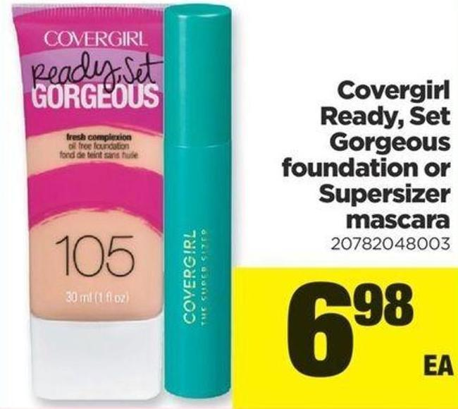 Covergirl Ready - Set Gorgeous Foundation Or Supersizer Mascara
