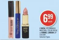 L'oréal Voluminous Mascara - Color Riche or Rimmel London Lip Colour