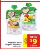 Parent's Choice Organic Pouches